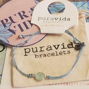 Aqua Stone Charm Pura Vida Bracelet